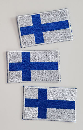 "Embroidered badge ""Finnish flag"""
