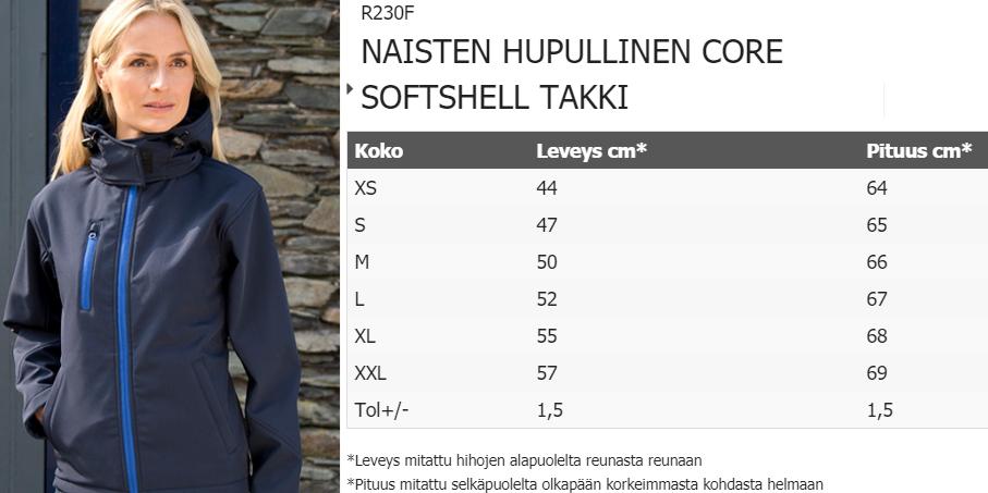 NAISTEN HUPULLINEN CORE SOFTSHELL TAKKI, Result   Helsingin